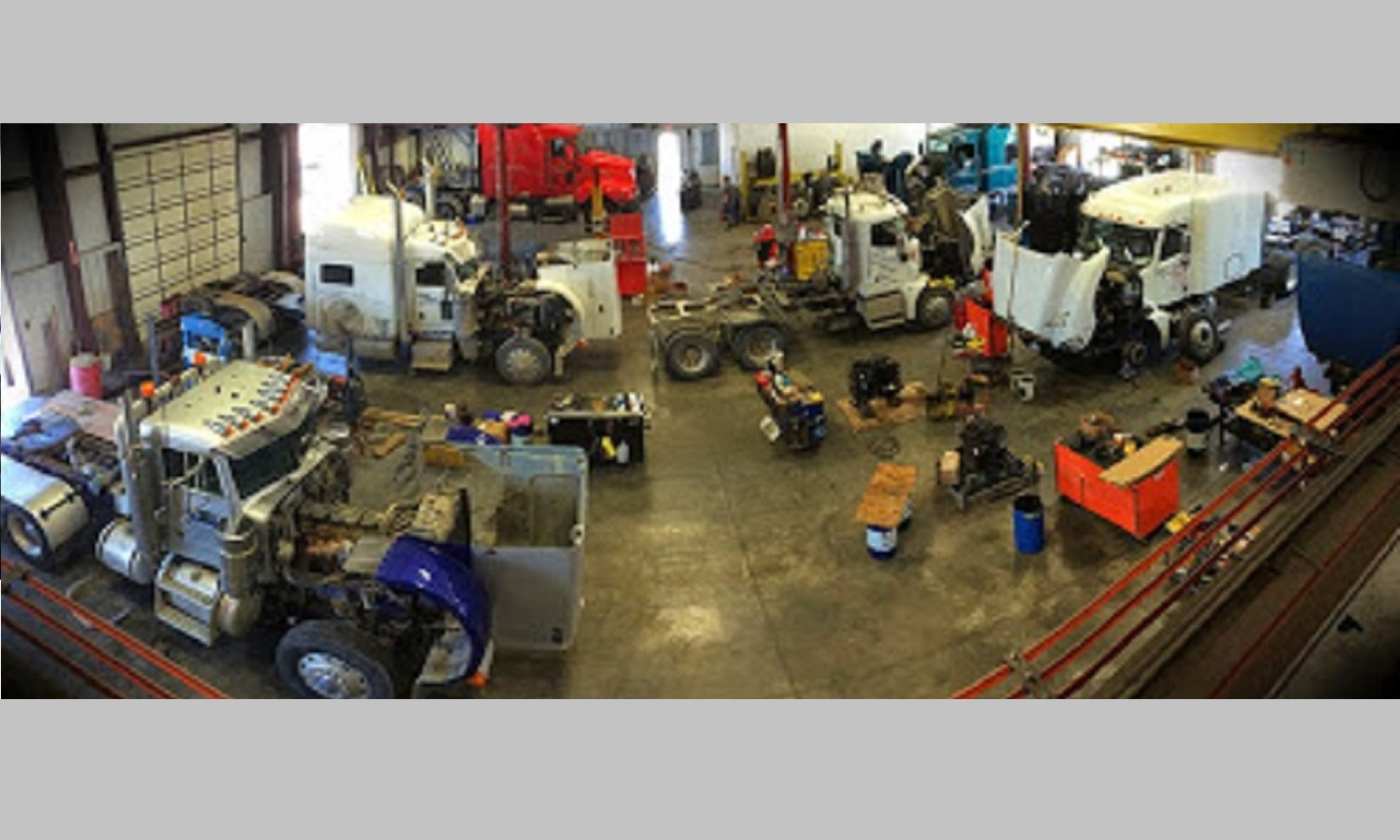 Picture of the inside of our repair shop